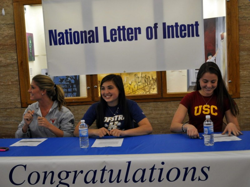 Schreiber Athletes Sign National Letter of Intent Port Washington