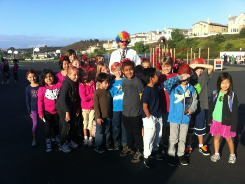 Photos Crazy Red Hair Day at Poinsettia Elementary Carlsbad, CA Patch