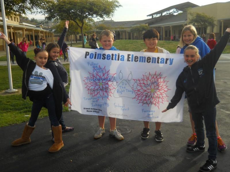 Two Poinsettia Elementary Students Design School Flag Carlsbad, CA