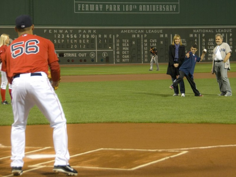 Cerebral Palsy Patient From Braintree Throws Pitch at Fenway - ma cerebral palsy