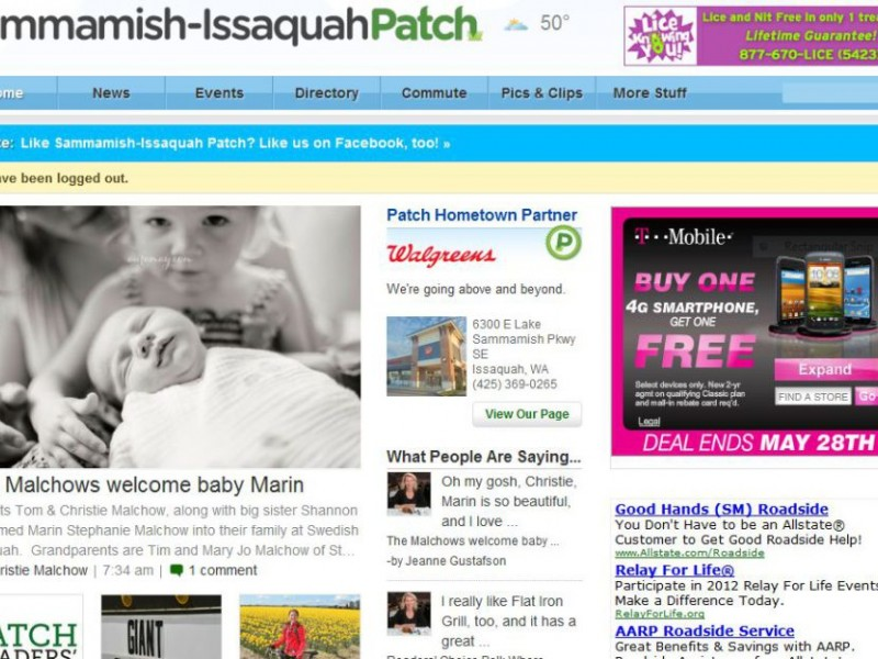 Post Birth Announcements Free on Sammamish-Issaquah Patch