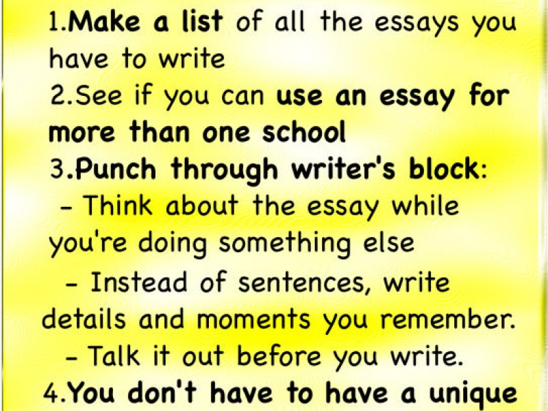 College Essay Writing - 5 Tips to Reduce the Stress Weston, CT Patch