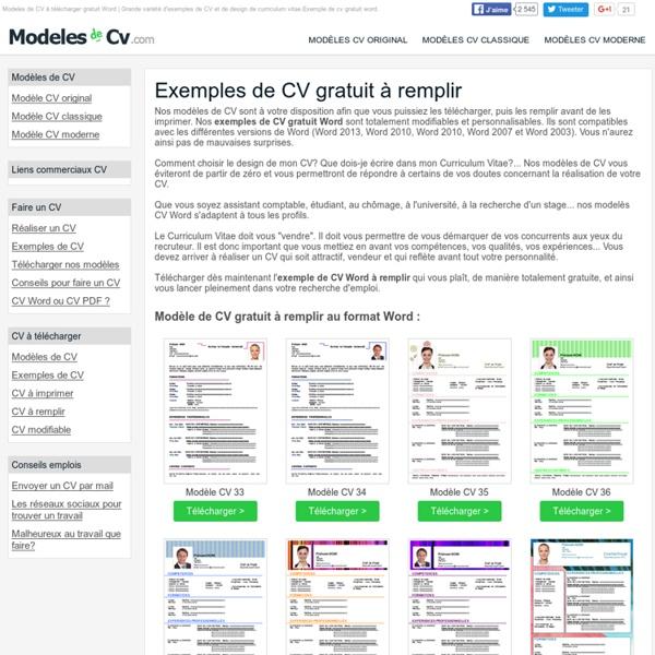 cv design a remplir