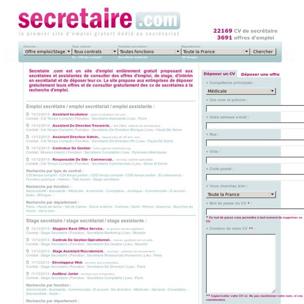 cv gratuit d un secretaire administratif