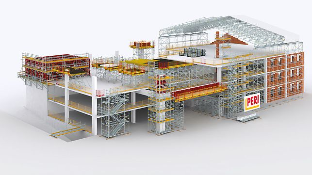 Construction Engineering Building And Scaffolding Technology For Building Construction Projects
