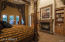 Beautiful Cantera stone fireplace and built ins
