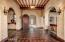 Foyer Entry with great ceiling detail and custom tile floor