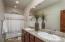 Beautiful granite counter tops in the 3rd Bathroom
