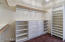 Master Closet is a huge walk in with great organizers