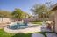 Artificial Turf, Travertine Pool Surround and Patio, Paver Walkway