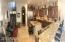 Open floor plan with large Gourmet Kitchen and High Bar