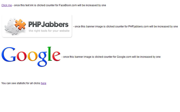 Free Banner and Link Click Counter Script PHPJabbers