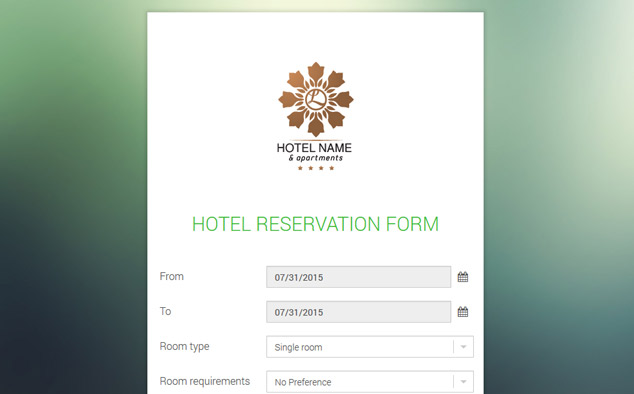 Hotel Reservation Form Free Hotel Reservation Script PHPJabbers