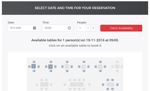 Restaurant Booking System Table Booking System PHPJabbers - restaurant table layout templates