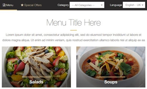Restaurant Menu Maker Restaurant Menu Script PHPJabbers