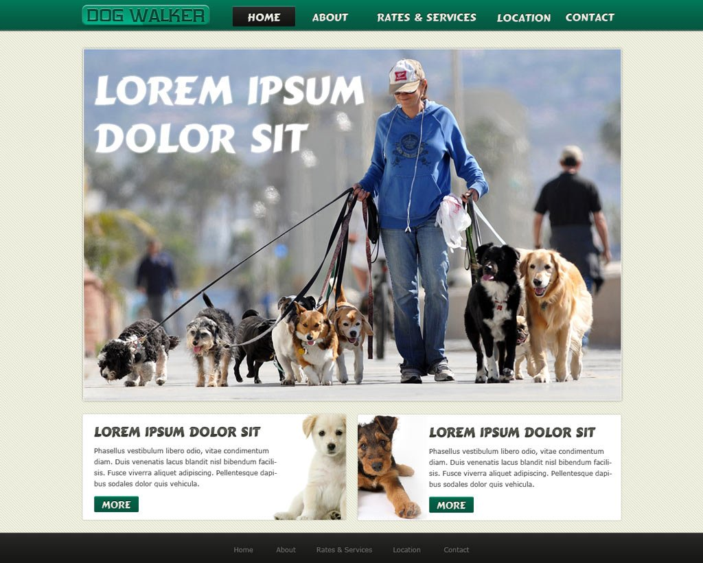 php website template