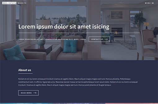 Free Real Estate Website Templates PHPJabbers - property management websites templates