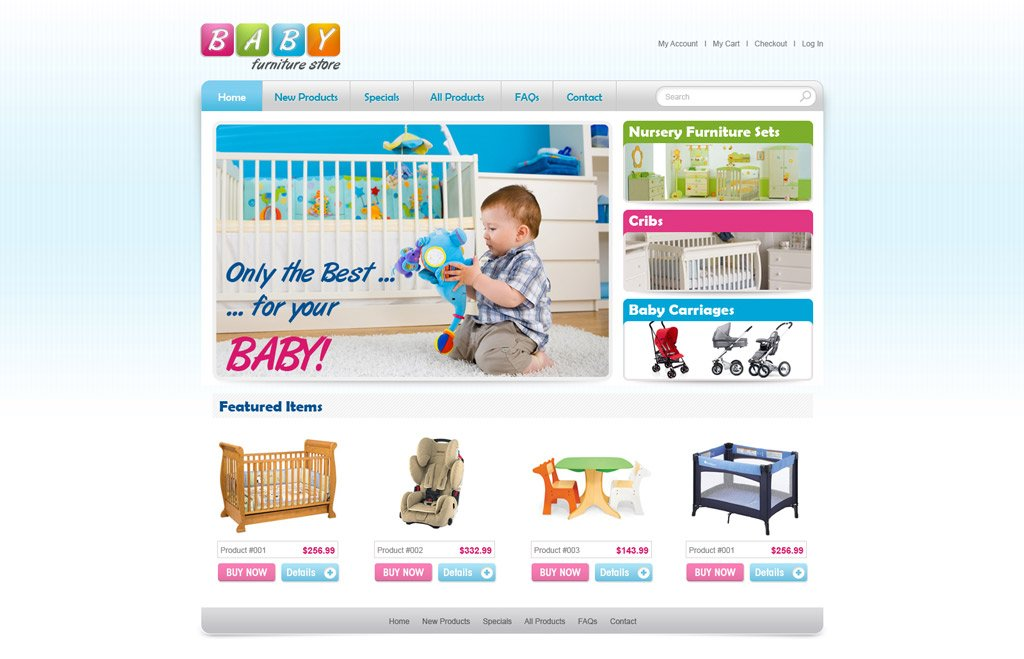 Baby Furniture Store Template eCommerce Website Templates PHPJabbers