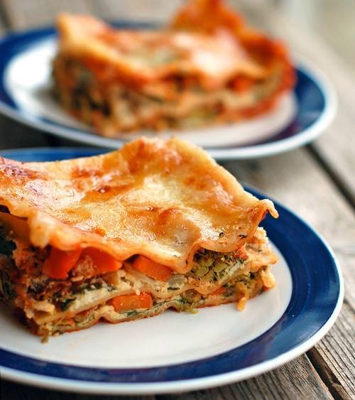 Skinny Veggie Lasagna - Pinch Of Yum