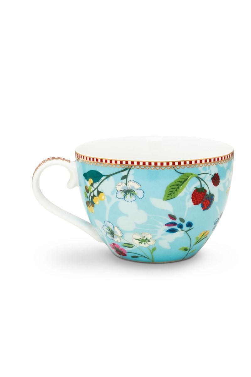 Xxl Teetasse Floral Tasse Xl Hummingbirds Blau