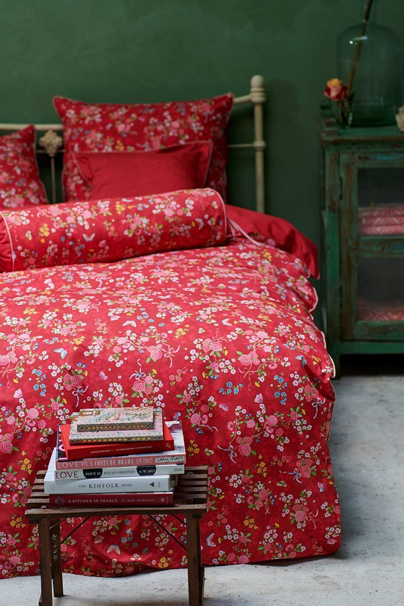 Pip Studio Bettwäsche Sale Duvet Cover Chinese Rose Bouquet Red Pip Studio The Official Website