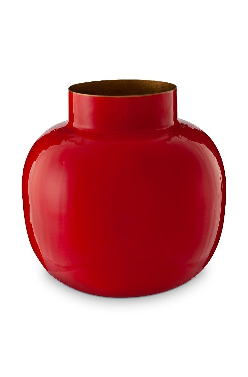 Round Metal Vase Red 25 Cm Pip Studio The Official Website