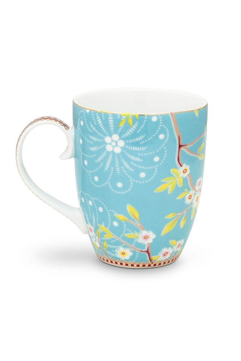 Tasse Groß Floral Tasse Groß Early Bird Blau