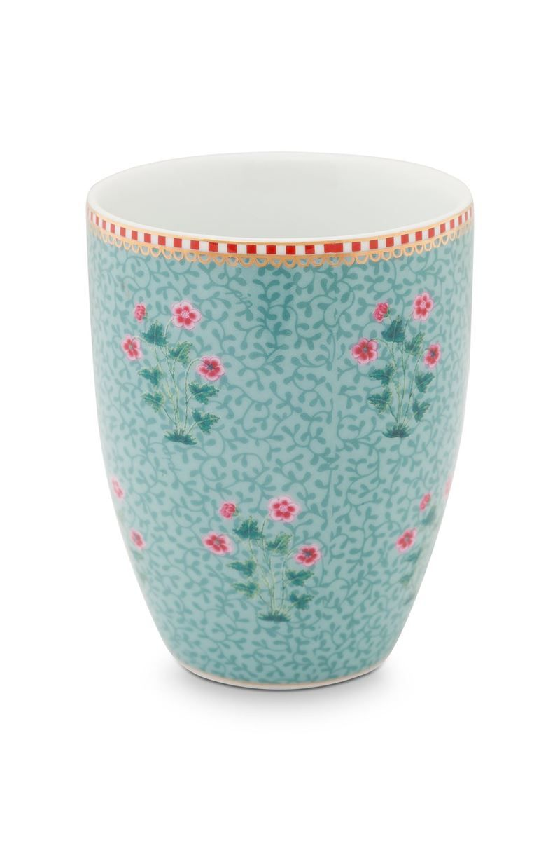 Verre The Verre à Dents Grand Mug Floral Bleu