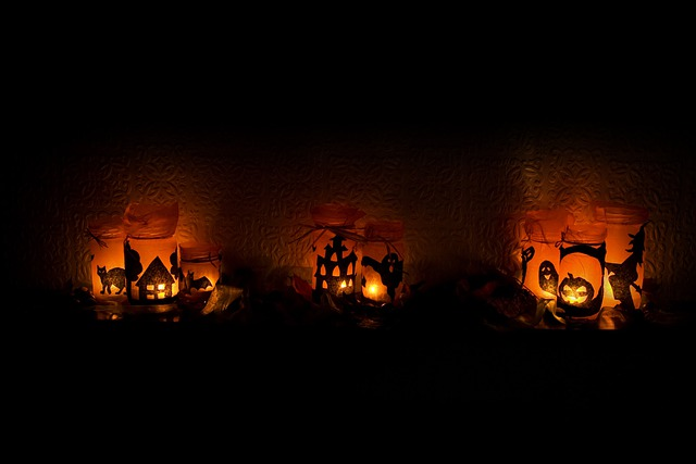 Fall Pumpkin Patch Wallpaper Free Photo Halloween Light Candles Scary Free Image