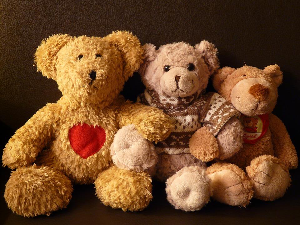 Sweet Girl And Boy Hd Wallpaper Teddy Bears Stuffed Animals 183 Free Photo On Pixabay