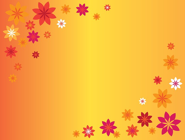 Fall Flowers Wallpaper Desktop Free Illustration Background Beautiful Decoration