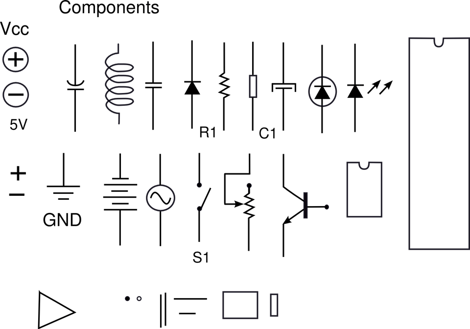 electronic components and circuits