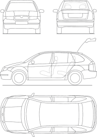 Blueprint Automobile Technical  Free vector graphic on ...