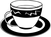 Tea Cup Saucer Black And  Free vector graphic on Pixabay