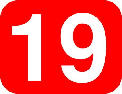 Free vector graphic: Number, 19, Nineteen, Rounded - Free Image on Pixabay - 38481