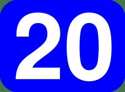 Twenty Number 20 · Free vector graphic on Pixabay