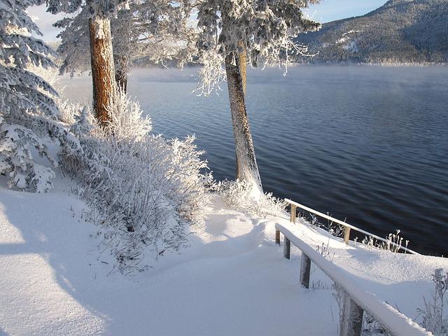 Bing Fall Desktop Wallpaper Free Photo Sunny Winter Day Snow Ice Free Image On