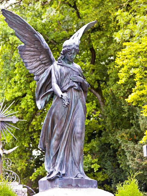 Water Animation Wallpaper Free Photo Angel Statue Cemetery Female Free Image