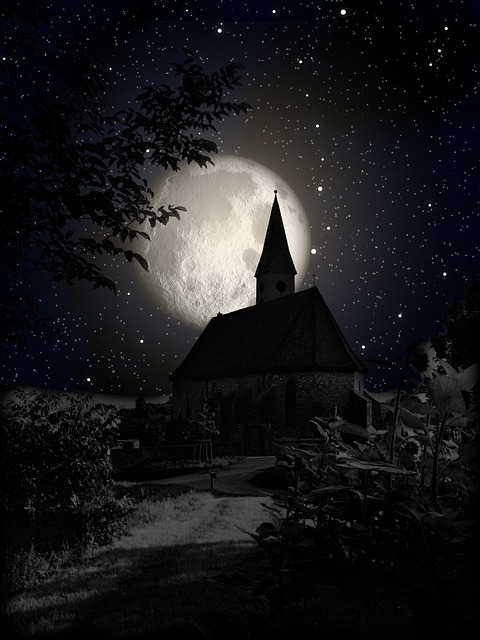 3d Ghost Wallpapers Free Free Photo Church Moon Night Shadow Star Free Image