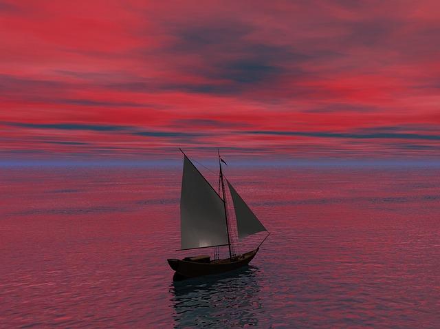 Pink Animal Wallpaper Free Illustration Sea Ocean Water Ship Sail Free