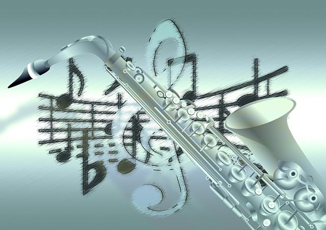 Wallpaper Hd 1080p 3d Flower Kostenlose Illustration Noten Saxophon Violinschl 252 Ssel