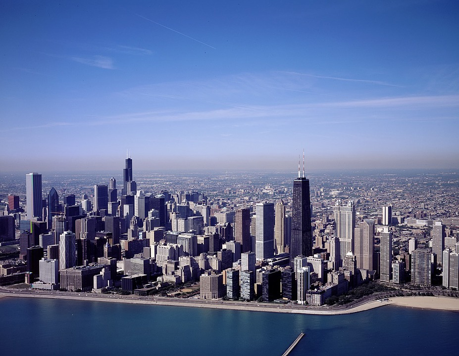 Blue Wallpaper Hd Download Free Photo Chicago Illinois City Cities Free Image