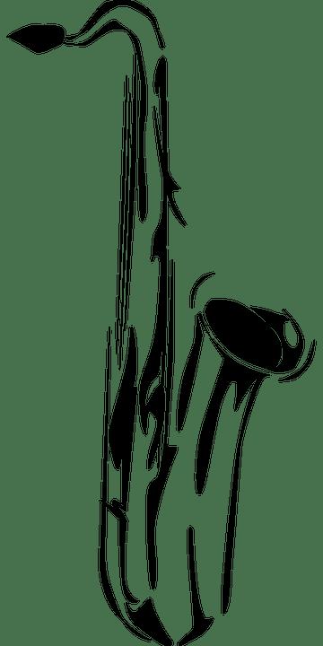 Boy Girl Sketch Wallpaper Saxophone Instrument Music 183 Free Vector Graphic On Pixabay
