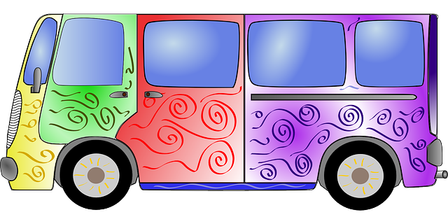 Mercedes Car Wallpaper For Mobile Bus Colorful Hippie 183 Free Vector Graphic On Pixabay