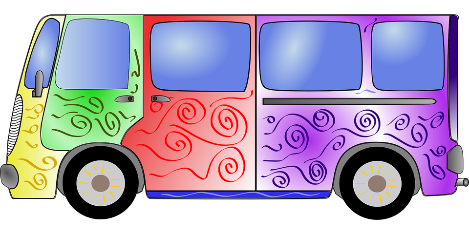 Spring Animal Wallpaper Bus Colorful Hippie 183 Free Vector Graphic On Pixabay