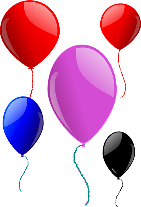 Wallpaper Girl Happy Balloons Party Floating 183 Free Vector Graphic On Pixabay