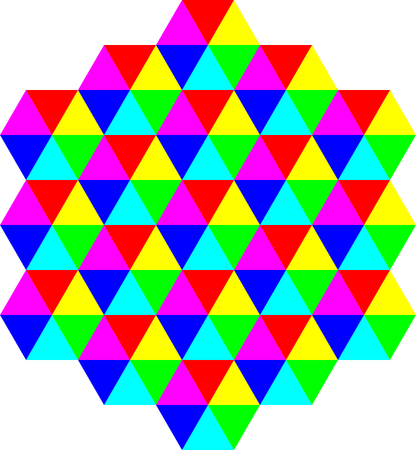 1080p Fall Wallpaper Free Vector Graphic Colors Tessellation Triangles
