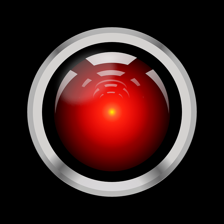 Black And White And Red Wallpaper Artificial Intelligence Hal 9000 183 Free Vector Graphic On
