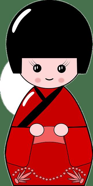 Cute Sushi Wallpaper Free Vector Graphic Kimono Doll Japan Japanese Cute
