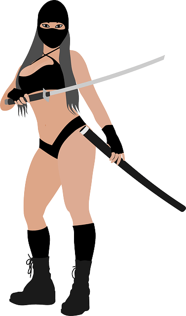 Pin Up Girl Hd Wallpaper Free Vector Graphic Woman Fighter Asian Beauty Free